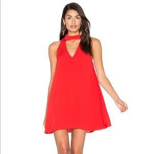 AMANDA UPRICHARD Minidress Cassia Shift Flowy Red